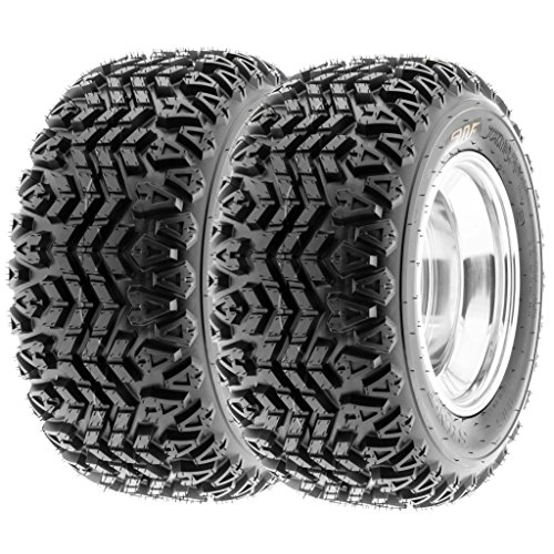 SunF 22x11-10 22x11x10 ATV UTV A/T Golf Cart Tires Race Replacement 4 PR Tubeless Tires G003, [Set of 2]