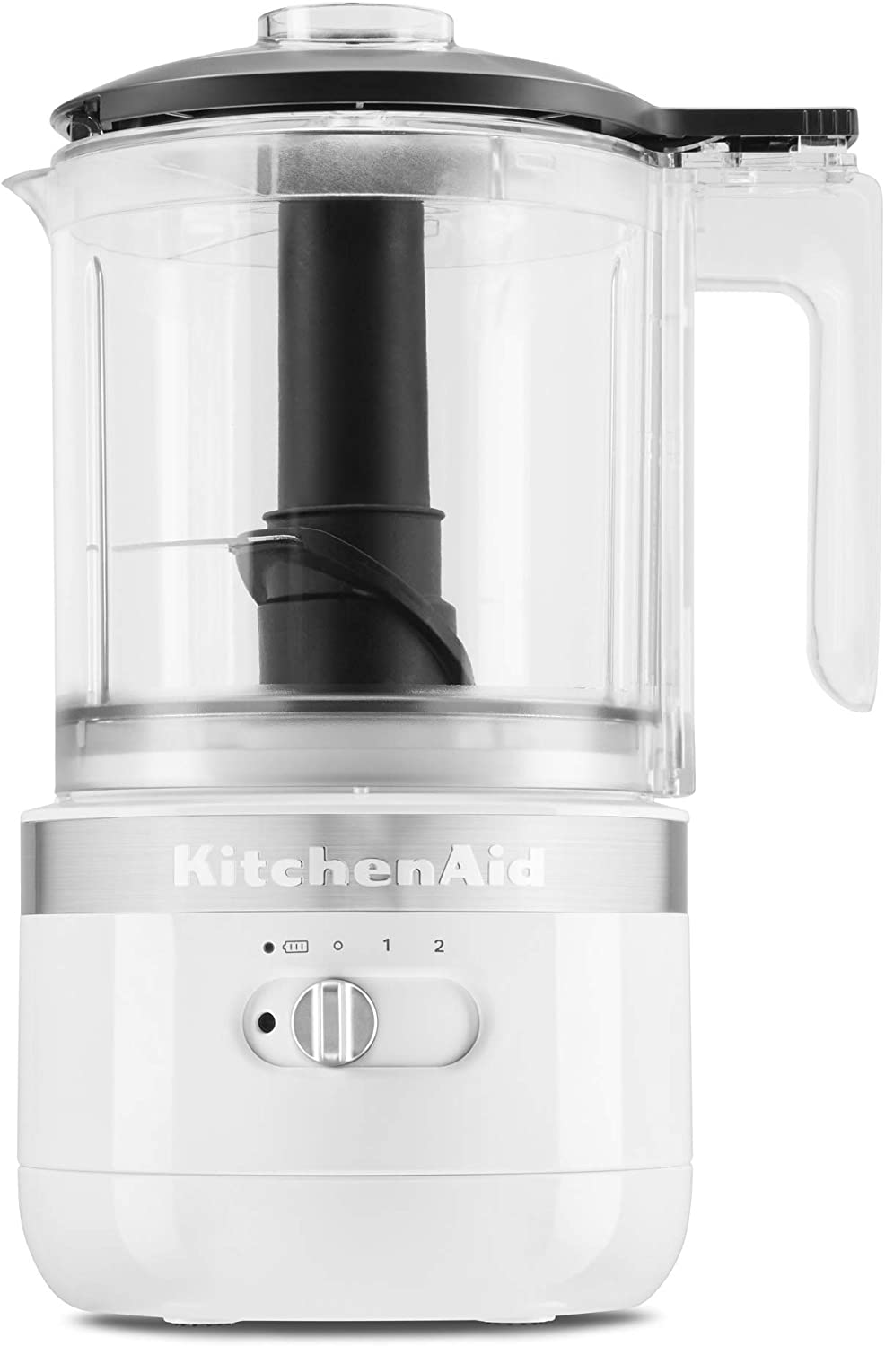 KitchenAid KFCB519WH Cordless Chopper, 5 cup, White