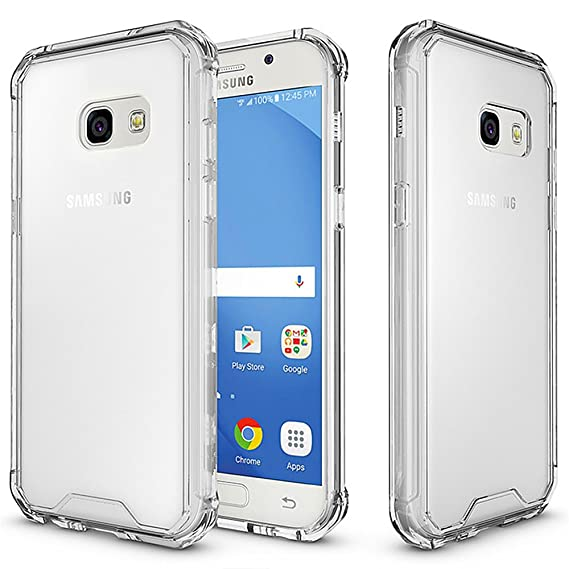 innovative design ea1c6 193f7 Galaxy A7 (2017) Case, KMO [Shockproof] [Ultra Clear] [Anti-Scratch] [Slim  Fit] [Reinforced Corners] Silicone TPU Gel Protection Cover With PC Scratch  ...