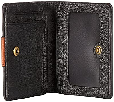 Fossil Emma Rfid Mini Wallet Black Stripe Wallet