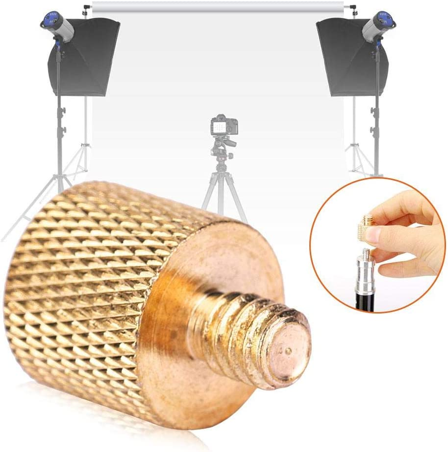 Mugast Adapter Screw Brass 3//8 Female to 1//4 Male Camera Tripod Lightweight Adapter Screw for Camera Tripod and Holder Fast Loading Plate Screw