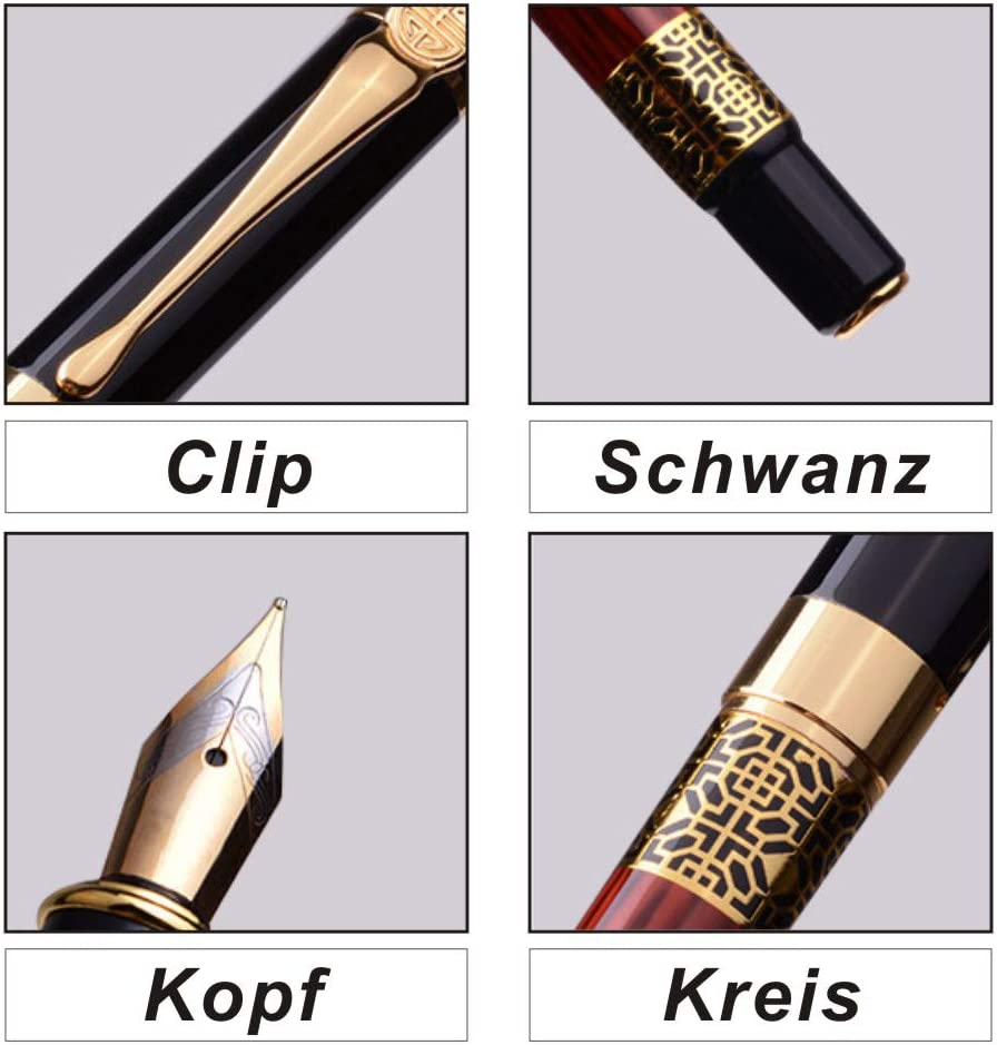 vernice pianoforte classica strumento di scrittura per firma aziendale e collezione Penna stilografica Smooth Flow pennino medio