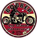 2x Bobber Old School Motorcycles adhesivos Consejo Cafe Racer Retro Vintage # 1