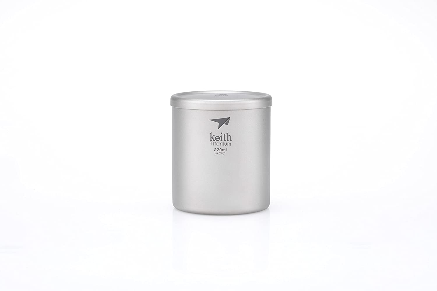 Keithチタンti3301 double-wall Mug with Lid – 7.4 FL OZ B01M652BV2