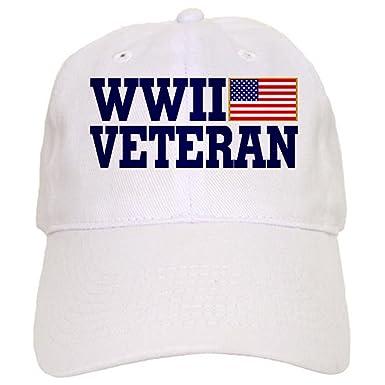 3695d954b7253 Amazon.com  CafePress - WWII VETERAN - Baseball Cap with Adjustable  Closure