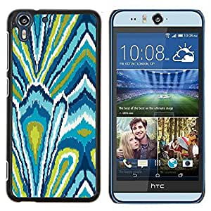 - pattern green abstract floral pattern - - Modelo de la piel protectora de la cubierta del caso FOR HTC Desire EYE M910x RetroCandy