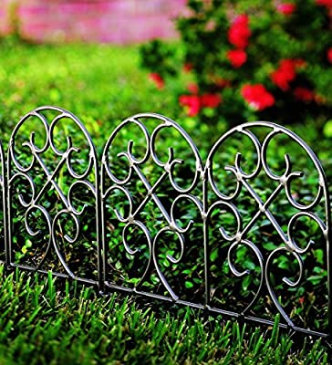 Classic Scroll Iron Garden Edging