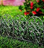 Amazon Com Plow Amp Hearth Classic Iron Fence Garden