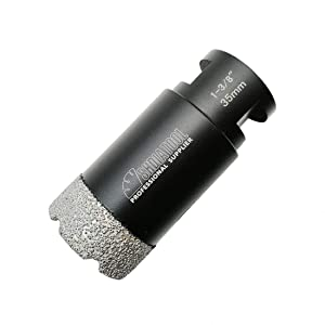 SHDIATOOL Diamond Core Drill Bits 1-3/8 Inch for Porcelain Ceramic Tile Marble Brick Vacuum Brazed Hole saw 35mm