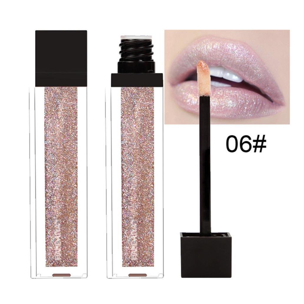 lápiz labial mate de maquillaje permanente Sannysis lápiz labial líquido mate duradero cosméticos labial de belleza maquillaje labios lustre terciopelo mate impermeable cosméticos lápiz labial (A)