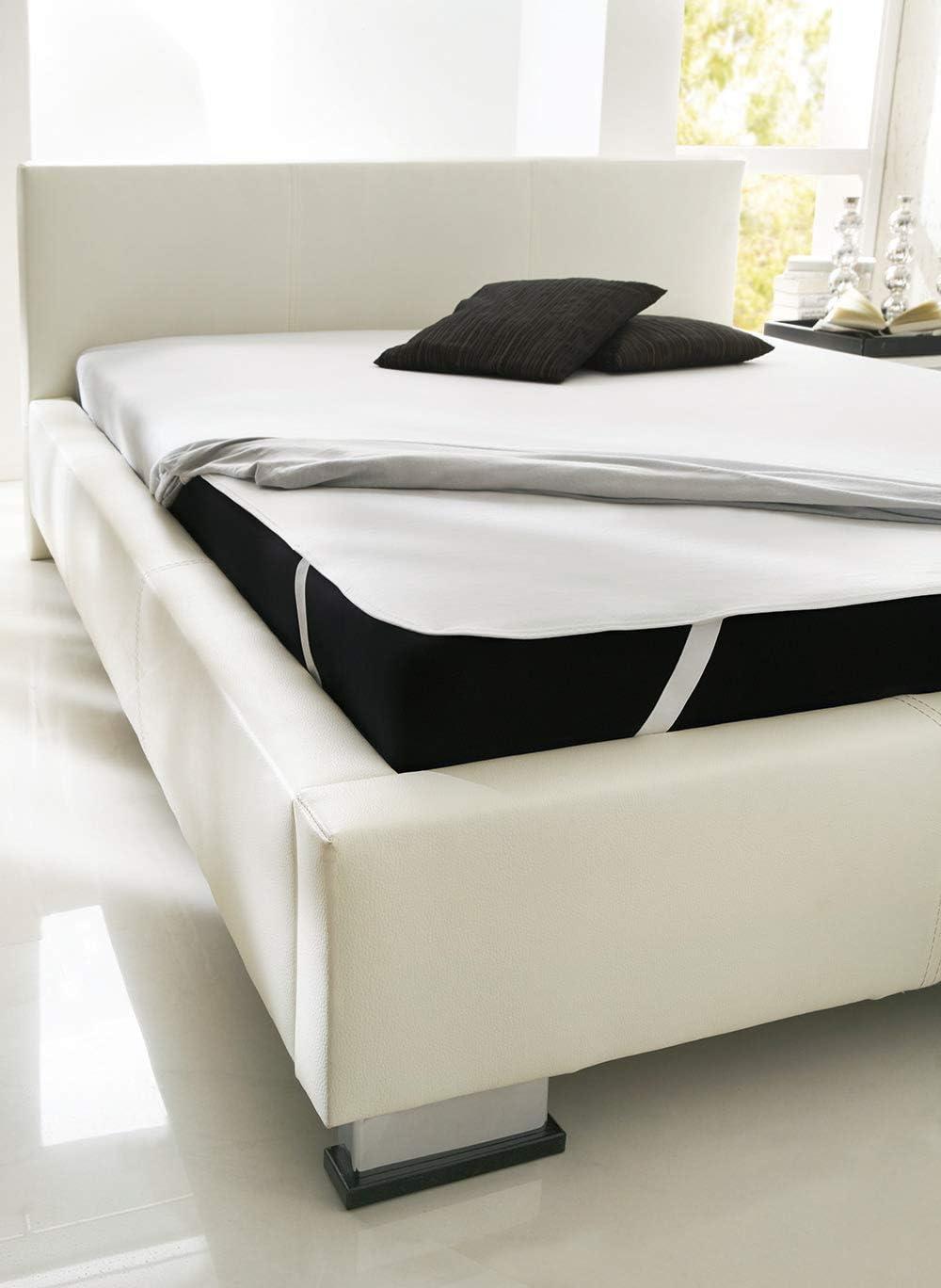 100 x 200 cm Dormisette Cotton Mattress Topper COTTON white