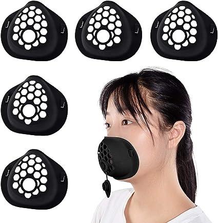 Support masque de protection en silicone noir