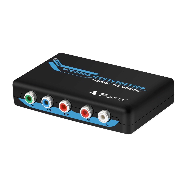 Portta HDMI to YPbPr Component RGB + R/L Converter v1.3 support 1080p 2 Channels LPCM