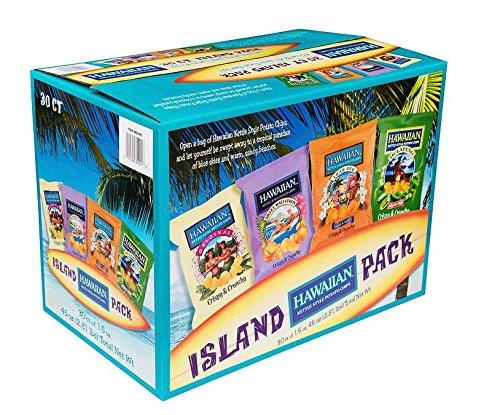 Hawaiian Potato Chips, Island Pack, Variety Pack, 1.5 oz, 30 ct (Chips Maui Potato Onion)