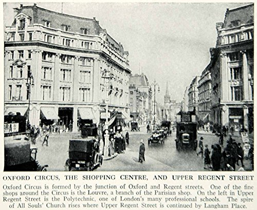 1938 Print Oxford Circus Shopping Center Market Upper Regent Street Image XGGD4 - Original Halftone - Market Shopping Center Street