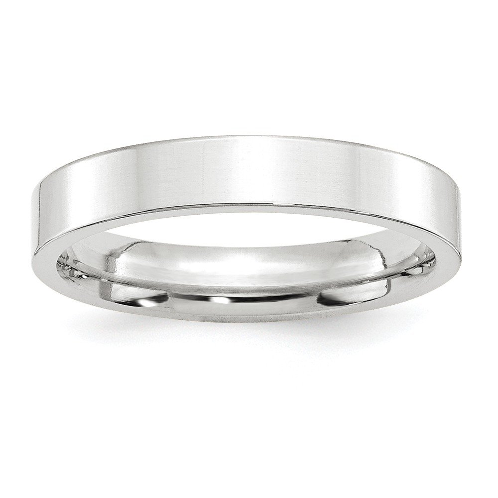 10KW 4mm Standard Flat Comfort Fit Band Size 9.5 by JewelrySuperMart Collection