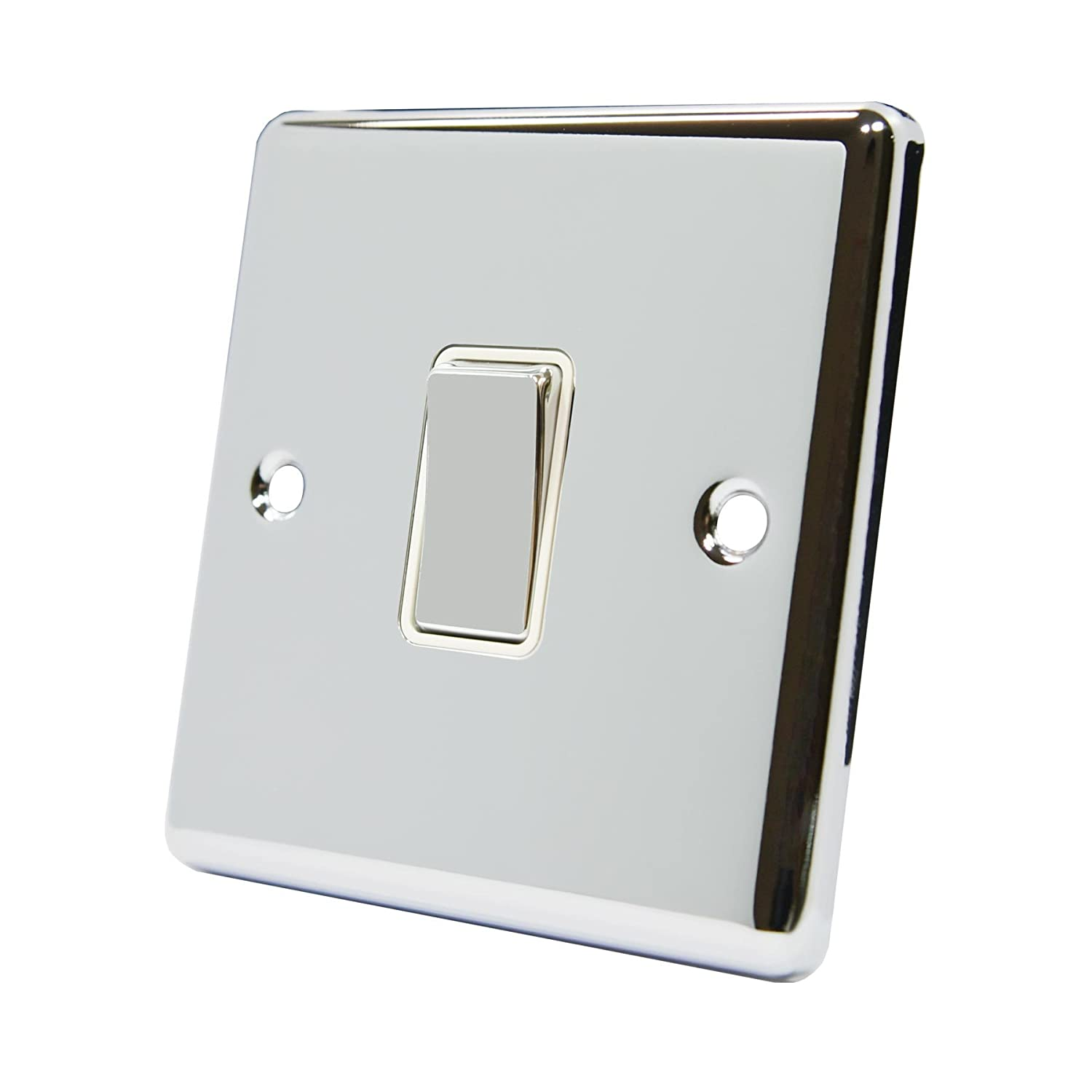 A5 Products SWI1GCCWC 10 A 2 Way Single Gang Light Switch - Chrome A5 Products UK