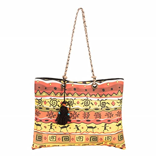 f06351960a6 House of tara Women s Printed Canvas Slim Tote  Amazon.in  Shoes   Handbags
