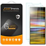 (2 Pack) Supershieldz for Sony (Xperia 10 Plus) Tempered Glass Screen Protector, Anti Scratch, Bubble Free
