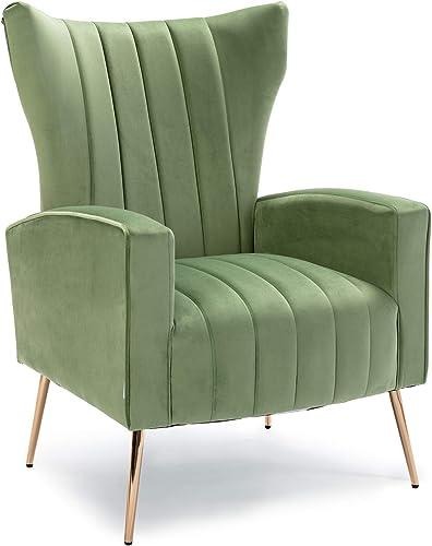 HOMEFUN Velvet Accent Chair