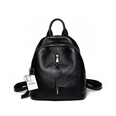 e69bf6ff38ad Yoome Large Backpack Purse Simple Style Schoolbag for Girls Shoulder Bag  Casual Handbag Daypack Genuine Leather