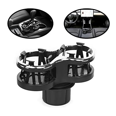 lebogner Car Cup Holder Expander, 2 in 1 Cup Adapter Organizer Stand with an Expandable Bracket for A Snug Fit, Or Movable, Detachable Base, Multifunctional Bottle Holder Extender for Coffee & Drinks: Automotive