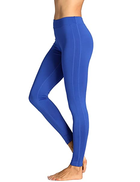 5047722a23605 SYROKAN Women s Running Sports Tights Workout Leggings Comfort Flex Pants  Blue-27.5 quot  ...
