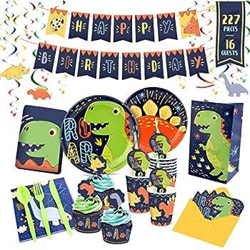 Amazon.com: Dinosaurio suministros de fiesta para 16 ...