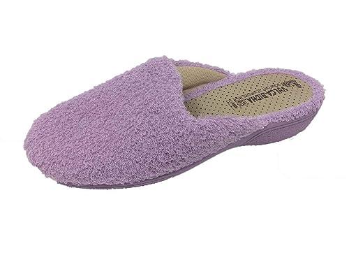 Zapatillas de Estar por casa/Mujer/Vulca-Bicha/Algodón Rizo/Suela