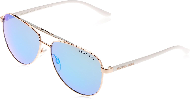 Michael Kors MK5007 104525 Rose Gold White Hvar Pilot Sunglasses Lens Category, 59mm