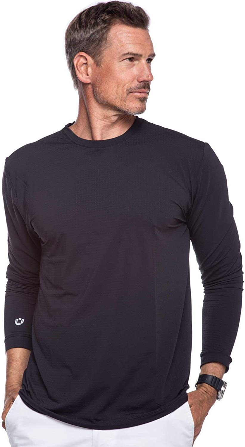 Cooling Long Sleeve T-Shirt IBKUL Mens Sun Protective UPF 50 Modern Fit 93199