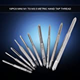 10pcs Mini M1 to M3.5 Hand Tap Tapping Screw Thread