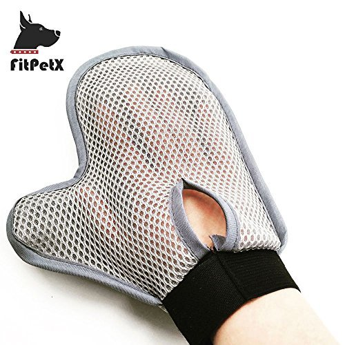 FitPetX Pet Grooming Glove Brush, Pet Grooming Glove Brush for Long and Short Hair Dog and Cat, by FitPetX (Image #3)
