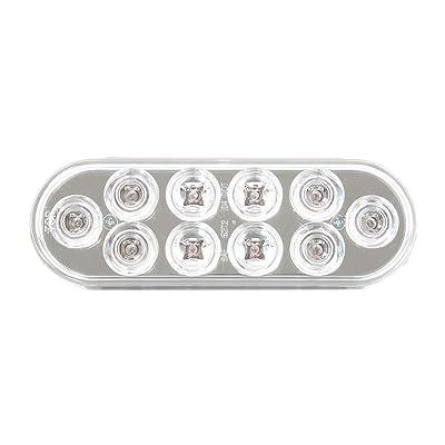 Grand General 76863 LED Light (Oval Mega 10 Plus Red/Clear 10-), 1 Pack: Automotive [5Bkhe1007135]