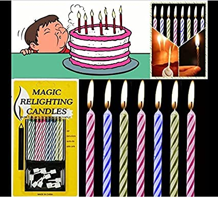Amazon 10x Quality Magic Trick Relighting Candle Birthday Cake Party Joke Xmas Gift Fun Everything Else