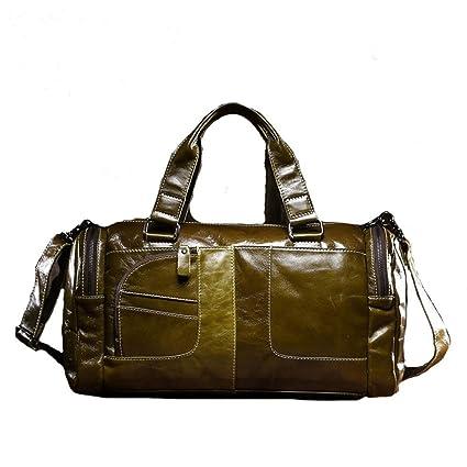 8e8b0f91dad1 Amazon.com: Ybriefbag Unisex Oil Wax Leather Bag Leather Bag Travel ...