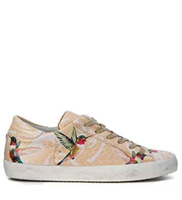 Philippe model Tropical Birds Peach Leather Sneaker Cheap Shopping Online jTEEi