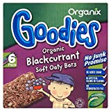 Organix Goodies Organic Soft Oaty Bars - Blackcurrant 12mth+ (6x30g) - Pack of 6