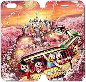 Cuero del tirón de la cubierta del Funda de la PU para el Funda iPhone 6 Caja del teléfono celular de 4,7 pulgadas Disney Año Nuevo fortuna expreso Con Daisy Pato Donald Minnie T6T7WF Funda personalizada Plástico