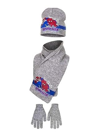 Echarpe, bonnet et gants enfant garçon Spider-man 3 coloris de 3 à 9ans 9249db5bab6