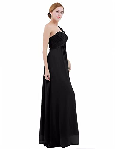 iEFiEL Womens One-Shoulder Chiffon A-line Bridesmaid Maxi Long Evening Party Prom Gown Dress: Amazon.co.uk: Clothing