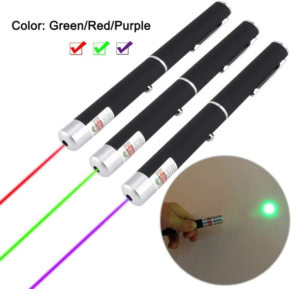 Powered by 2 x AAA Battery LED Sports Device to Play with pet not Included 3 Piece Green red Blue Interactive Pen Training Toy cat and Dog