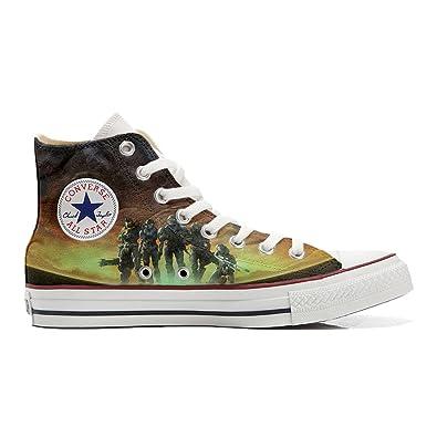 587ff086 Converse All Star zapatos personalizados (Producto Handmade) soldados en la  guerra - TG45: Amazon.co.uk: Shoes & Bags