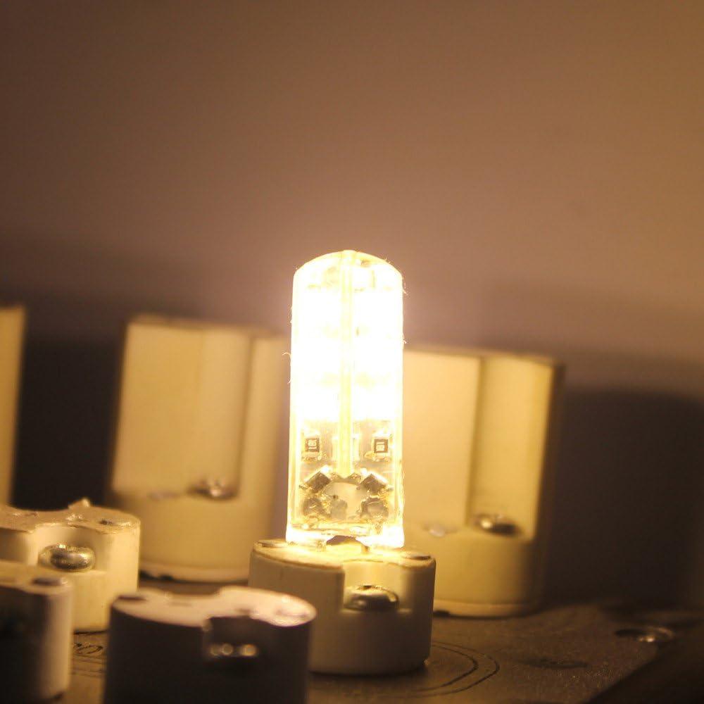 10W Halogen Bulbs Equivalent G4 LED Light Saving Energy Bulbs Mengjay 5 Pcs 1.5W G4 LED Lamp 24 SMD 3014,AC 110V Non-Dimmable Warm White 2800-3200K 120 LM