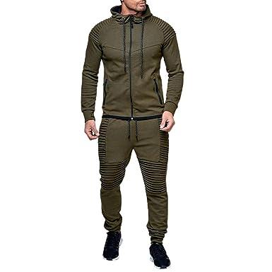 Covermason Homme Ensemble Pantalon de Sport Slim Fit Sweatshirt à Capuche  Jogging Survêtement 2 Pièces Sweat 872f3fb0eb7