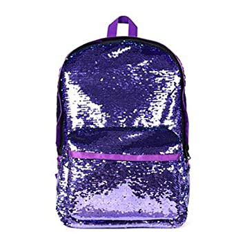 e94790a1ad9 Amazon.com | Starte Kids Glitter Mermaid School Bookbag Magic ...