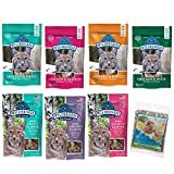 Blue Buffalo Wilderness Grain Free Cat Treats Variety Pack and Catnip - Soft and Crunchy Flavors - 2 Ounces Each (7 Pouches Total)