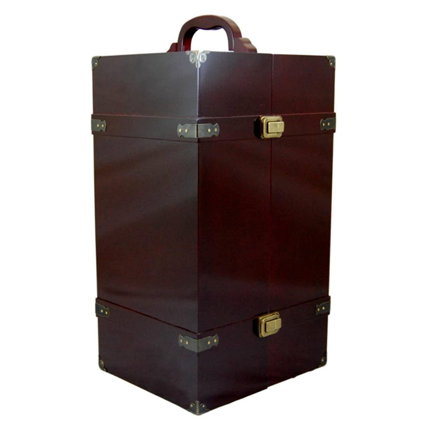 Shoes /& Accessories.Mahogany Stained Wood with Removable Vanity The Queens Treasures Doll Trunk Storage Case for 18 Inch Dolls Stool Plus 4 Clothing Hangers The Queen/'s Treasures ® AGWWV-M Clothing