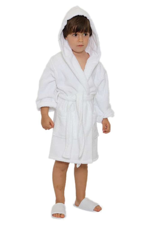 Kids Terry Hooded Bathrobe Terry Cloth Hoodie Bathrobe /%100 Cotton for Kids