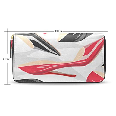 Amazon.com: Hermosos lazos y tacones altos cartera larga ...